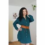 robe-chemise-femme-pur-lin-lave-français-offon-maison-de-mamoulia-bleu-turquoise-foncé-ceinture