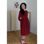 robe-midi-femme-manches-3-4-pur-lin-lave-français-offon-maison-de-mamoulia-rouge-bourgogne