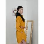robe-chemise-femme-manches-longues-pur-lin-lave-français-offon-maison-de-mamoulia-jaune-moutarde