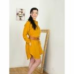 robe-chemise-femme-manches-longues-pur-lin-lave-français-offon-maison-de-mamoulia-jaune-moutarde-