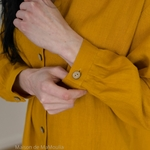 robe-chemise-femme-pur-lin-lave-français-offon-maison-de-mamoulia-jaune-moutarde