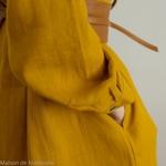 robe-chemise-femme-pur-lin-lave-français-offon-maison-de-mamoulia-jaune-moutarde-
