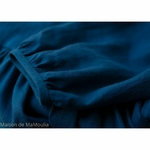 robe-longue-femme-manches-ballon-col-v-cache-coeur-pur-lin-lave-français-offon-maison-de-mamoulia-teal-bleu