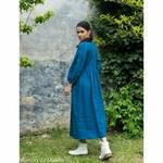 robe-longue-femme-manches-ballon-col-v-cache-coeur-pur-lin-lave-français-offon-maison-de-mamoulia-bleu-clair