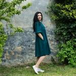 robe-midi-femme-manches-ballon-pur-lin-lave-français-offon-maison-de-mamoulia-bleu-petrole