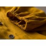 robe-midi-femme-manches-ballon-pur-lin-lave-français-offon-maison-de-mamoulia-jaune- moutarde-