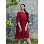robe-midi-femme-manches-ballon-100-lin-lave-français-offon-maison-de-mamoulia-rouge-bourgogne