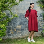 robe-midi-femme-manches-ballon-100-lin-lave-français-offon-maison-de-mamoulia-rouge-bordeaux-