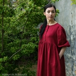 robe-midi-femme-manches-ballon-100-lin-lave-français-offon-maison-de-mamoulia-rouge-bourgogne-