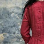 robe-midi-femme-manches-3-4-pur-lin-lave-français-offon-maison-de-mamoulia-rose- framboise-