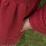 robe-midi-femme-manches-3-4-pur-lin-lave-français-offon-maison-de-mamoulia- rose-framboise
