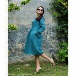 robe-midi-femme-manches-3-4-pur-lin-lave-français-offon-maison-de-mamoulia-bleu--turquoise
