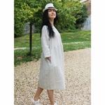 robe-midi-femme-manches-3-4-pur-lin-lave-français-offon-maison-de-mamoulia-blanche-rayures-noires