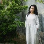 robe-midi-femme-manches-3-4-pur-lin-lave-français-offon-maison-de-mamoulia-blanche-rayures-noires-
