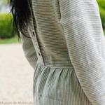 robe-midi-femme-manches-longues-pur-lin-lave-français-offon-maison-de-mamoulia-blanche-rayures-noires-