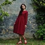 robe-midi-femme-manches-3-4-pur-lin-lave-français-offon-maison-de-mamoulia-rouge-bordeaux