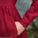 robe-midi-femme-manches-3-4-pur-lin-lave-français-offon-maison-de-mamoulia-rouge-bordeaux--