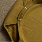 Nebel-golden-leaf-minimalisma -body-bebe-coton-bio-maison-de-mamoulia-dore-moutarde-jaune