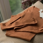 minimalisma-Gerda - Rooibos- tshirt-manches-longues-femme-soie-coton-maison-de-mamoulia-terracotta