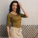 minimalisma-Gym -Seaweed- tshirt-manches-courtes-femme-soie-coton-maison-de-mamoulia-vert-kaki-algue----