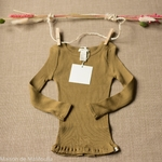 minimalisma-bergen- Seaweed - tshirt-enfant-manches-longues-soie-coton-maison-de-mamoulia-vert-olive-kaki