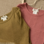 minimalisma-bergen- Seaweed - tshirt-bebe-manches-longues-soie-coton-maison-de-mamoulia-vert-rose