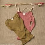 minimalisma-bergen- Seaweed - tshirt-bebe-manches-longues-soie-coton-maison-de-mamoulia-vert-rose-