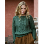 Pull tricoté vert