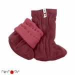 chaussons-booties-pure-laine-merinos-manymonths-maison-de-mamoulia-earth-red-rose