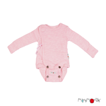 40403_ManyMonths Natural Woollies Kimono BodyShirt with Foldover Sleeves Stork Pink_1500px-L
