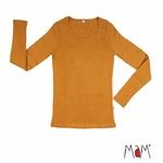 mam-babyidea-manymonths-tshirt-femme-pure-laine-merinos-maison-de-mamoulia-honey-bread-moutarde