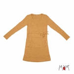 robe-tunique-motherhood-mam-pure-laine-merinos-babyidea-maison-de-mamoulia-honney-bread-moutarde