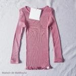 181-4 - Bergen 2-6Y - Antique Red -tshirt-enfant-rose -maison-de-mamoulia
