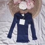 181-4 - Bergen 2-6Y -Dark Blue - -tshirt-soie-enfant-rose -maison-de-mamoulia