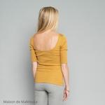 234 - Gym - Golden Leaf- tshirt-femme-soie-coton-maison-de-mamoulia