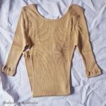 234 - Gym - Golden Leaf- tshirt-top-femme-soie-coton-maison-de-mamoulia