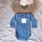 181-28 - Nebel - Steel Blue - body-bebe-coton-bio-maison-de-mamoulia-bleu