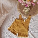181-12 - Gry - Golden Leaf - robe-sans-manches-femme-soie-coton-maison-de-mamoulia-dore