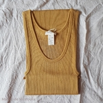 181-12 - Gry - Golden Leaf - - robe-sans-manches-femme-soie-coton-maison-de-mamoulia-dore