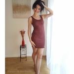 181-12 - Gry - Mahogany -robe-femme-soie-coton-maison-de-mamoulia-debardeur-