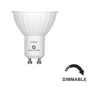 Lampe GU10 Led 6W DIMMABLE Grand angle 120° Blanc Chaud