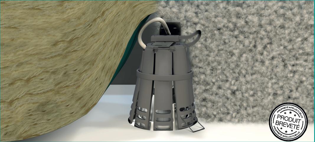 SPOTISOL Capot de protection thermique des spots encastrés et des isolants