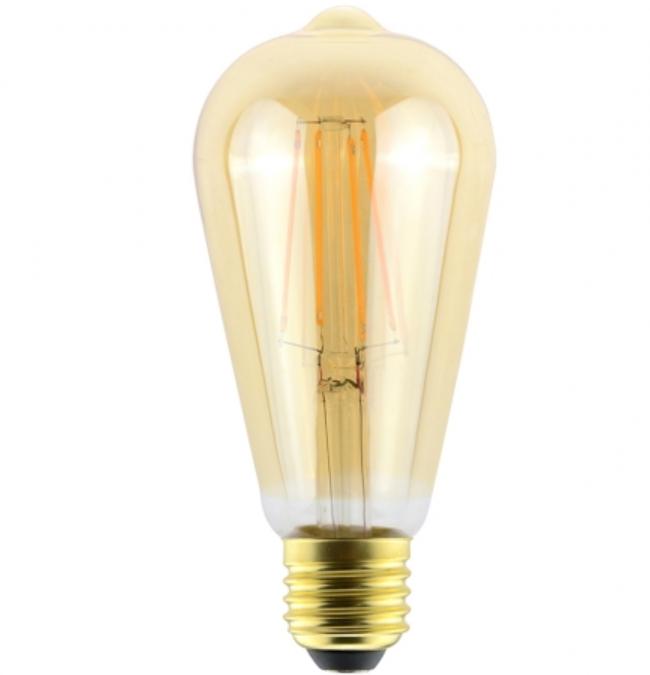 Ampoule Vintage Edison Led 7,5W dimmable ambrée 2500°K
