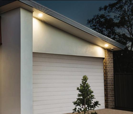 Eclairage d\'une entrée de garage
