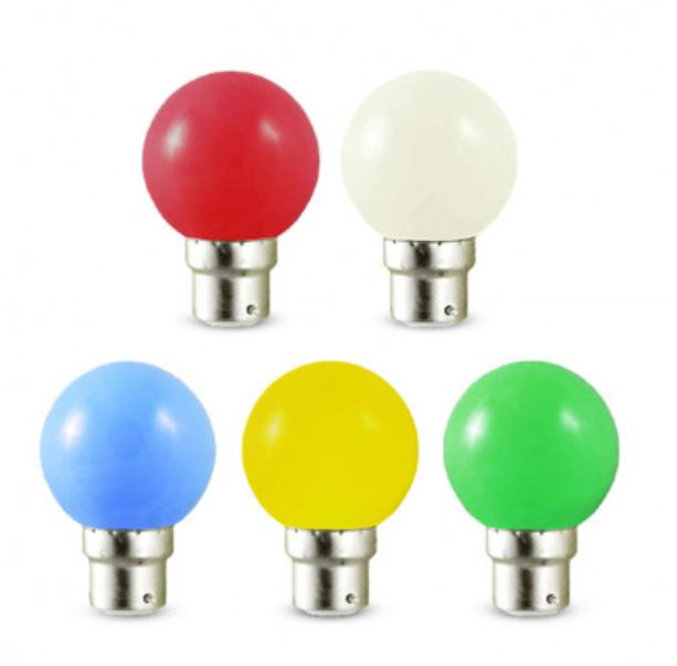 Ampoule Bleue LED 1W B22 à baïonnette pour guirlande