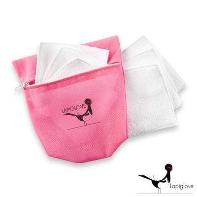 """Kit lingettes démaquillante """"pochette rose série speciale"""""""