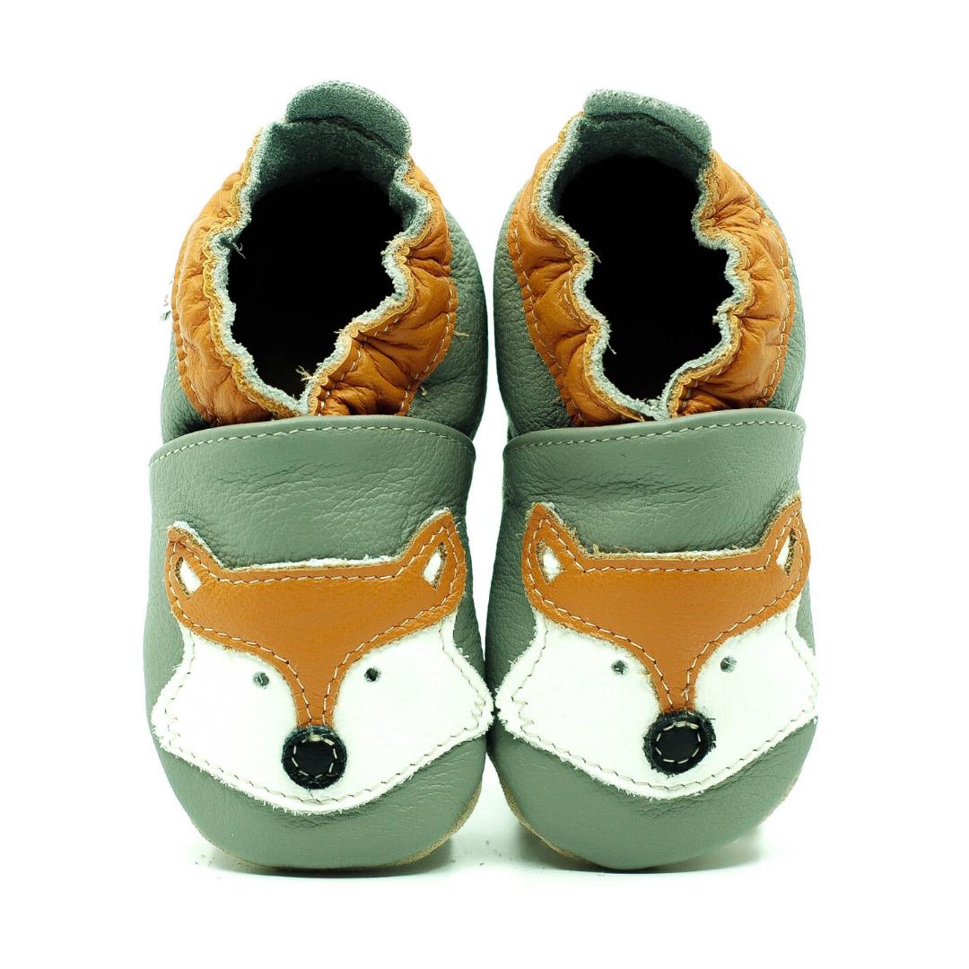 Chaussons en cuir ekoTuptusie - renard