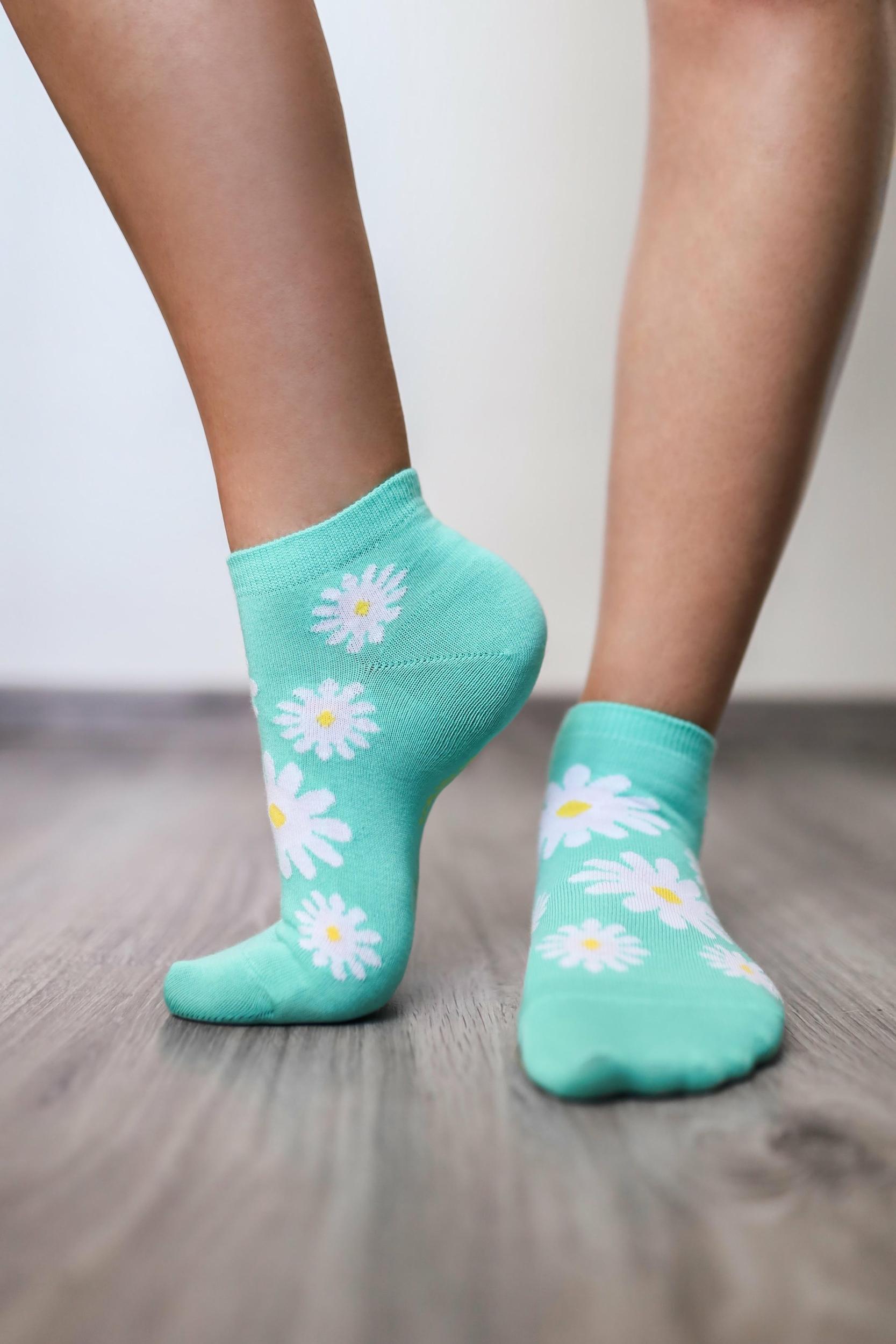 Chaussettes basses barefoot Be Lenka - marguerites