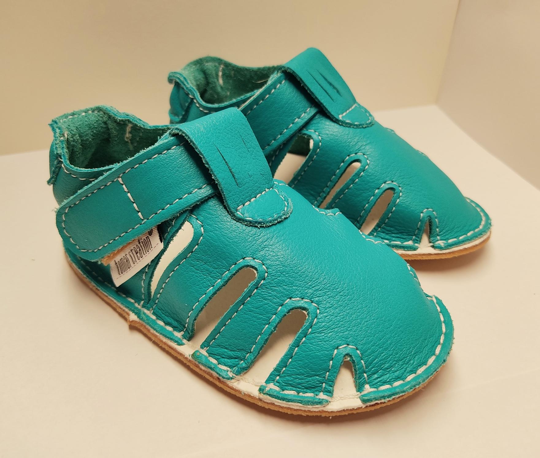 Sandales P\'tit scratch été - bleu turquoise