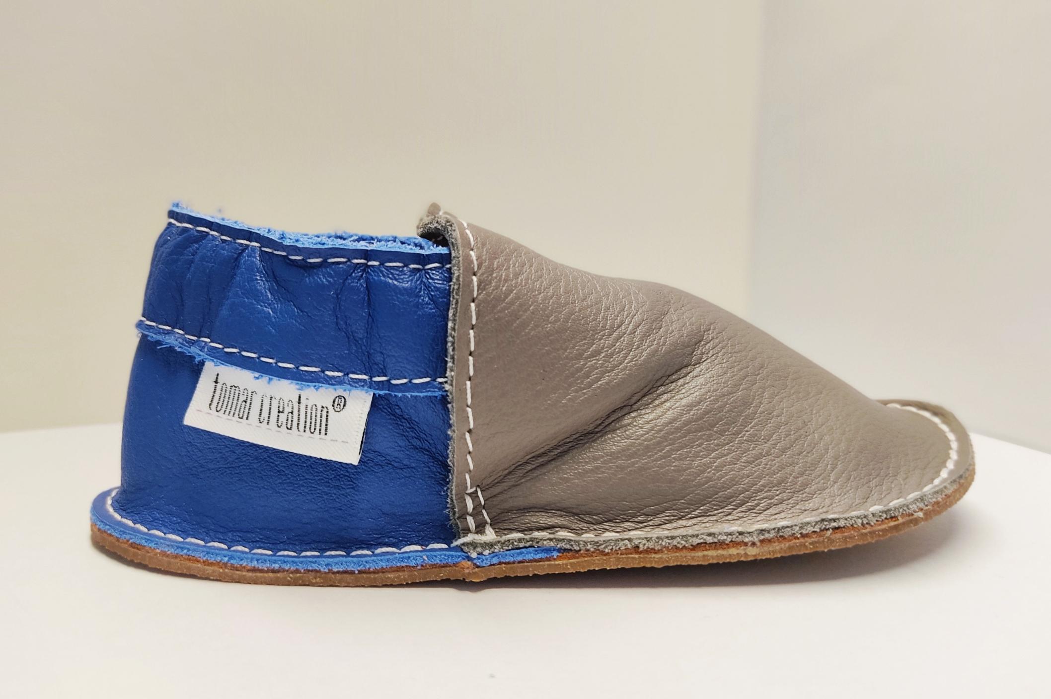 Chaussures P\'tite gomme - gris et bleu